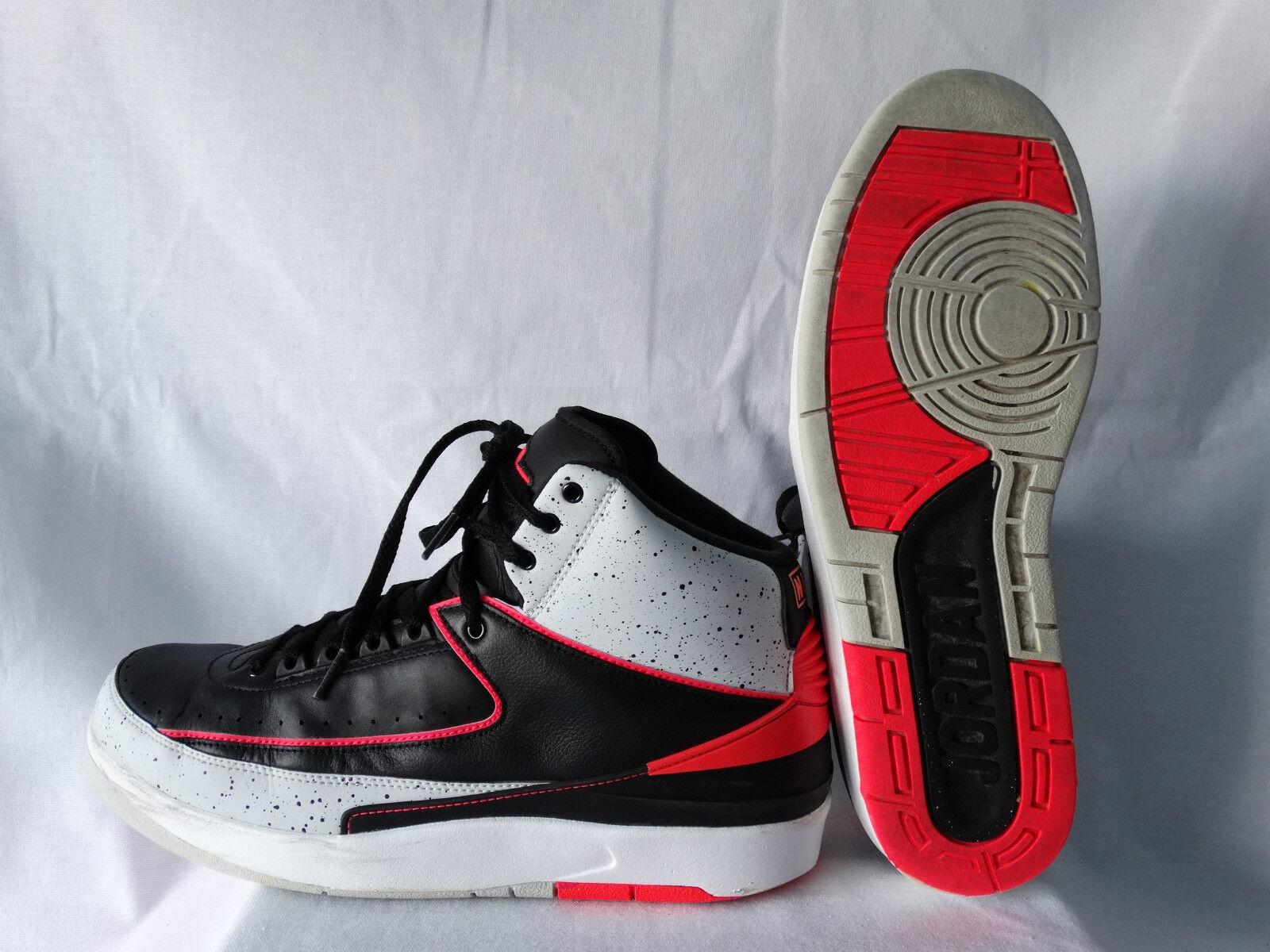Nike Air Jordan II Retro Basketballschuhe schwarz-infrared 23 EU 45,5 US 11,5
