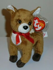 Ty Beanie Baby - CHESTNUT the Reindeer (6 Inch) MINT with MINT TAGS