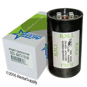 324-389 uF x 110//125 VAC BMI Start Capacitor # 092A324B125AC1A Made in The USA