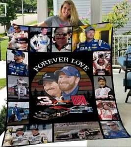 Forever love 3 Dale Earnhardt and 88 Dale Jr Nation  Quilt//Fleece Blankets Gift