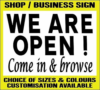 WE ARE OPEN COME IN AND BROWSE metal SIGN ≈ shop store market customer notice