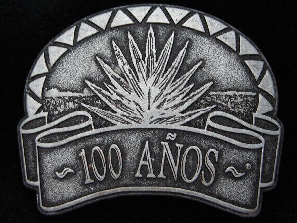 PL05108 Wirklich Nett 100 Anos Tequila Alkohol Zinn Gürtelschnalle