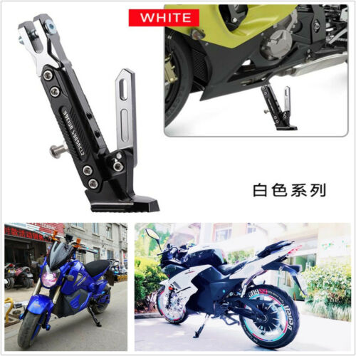 Motorcycle Adjustable Side Tripod Holder Durable CNC Alloy Aluminum Silver+Black