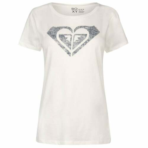 Roxy My Heart T Shirt Ladies Crew Neck Tee Top Short Sleeve Round Ventilated