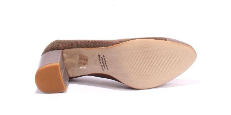 Mally 5331 Pewter Leder / Heels Braun Stretch Vintage Look Heels / 39 / US 9 ce36e3