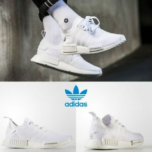 Adidas Original NMD R1 PK Japan Sneakers White White BZ0221 SZ 4-11 ... 48ef32465b13