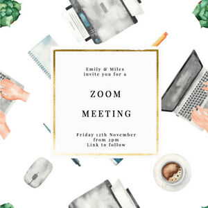 DIGITAL VIRTUAL FILE INVITE FOR ZOOM MEETING, WORK FROM HOME