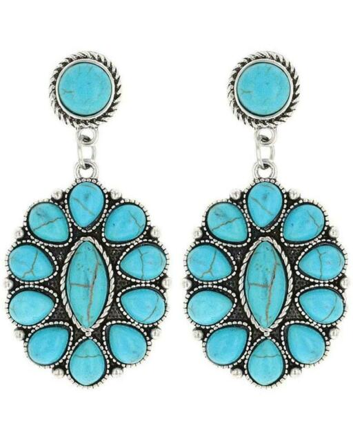 Turquoise earrings stud all sterling silver handmade silversmith