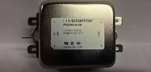 """Schaffner Power Line Filter FN2060-6-06 6 Amps 110/250 1/4"""" Quick Disconnects"""