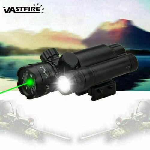 Hunting Compact Green Laser Pistol Light Sight LED Flashlight 20mm Rail Mount