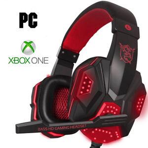 Giocatore-PC-amp-Pro-Xbox-Auricolare-per-i-piu-recenti-Xbox-One-Rosso-Microsoft-Cuffie