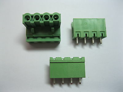 10x mini 5.08mm Straight 4 pin Screw Terminal Block Connector Pluggable Type