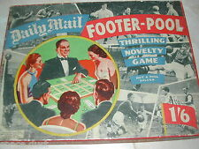 FOOTER POOL GAME - CHAD VALLEY - 1950'S - DAILY MAIL FOOTER POOL - RARE - VGC