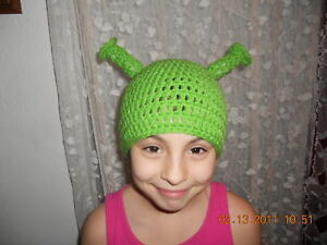 7f739d5c334 Image is loading Character-Crochet-Shrek-Ogre-Ears-Hat-Any-Size
