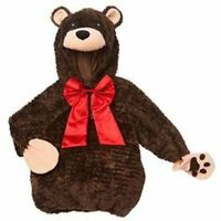 Koala Kids Brown Bear Red Bow Infant Dress Up Costume Sz: 12-18 Mos