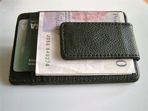 NEW-PREMIUM-QUALITY-SLIMLINE-LEATHER-MONEY-CLIP-amp-CREDIT-CARD-HOLDER-MEN-039-S-GIFT