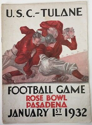 1932 Unofficial Program USC Vs Tulane | eBay