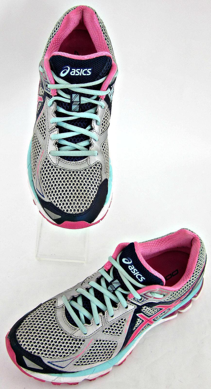Asics GT-2000 3 Womens Running shoes Lightning Hot Pink Navy Sz 11