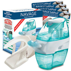 NAVAGE-INTERNATIONAL-STARTER-BUNDLE-Nose-Cleaner-120-SaltPods-CountertopCaddy