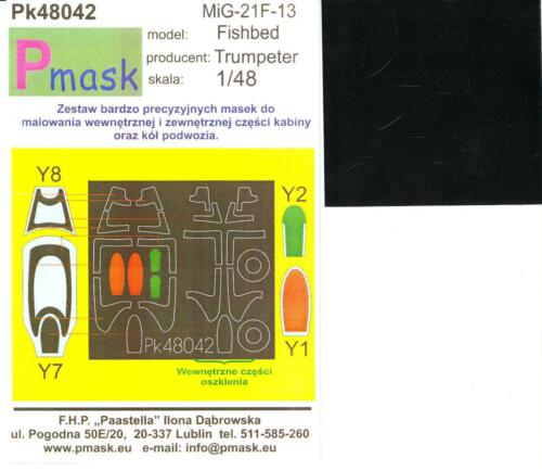 Model Maker 1//48 MIKOYAN MiG-21F-13 FISHBED Paint Mask Set for Trumpeter Kit