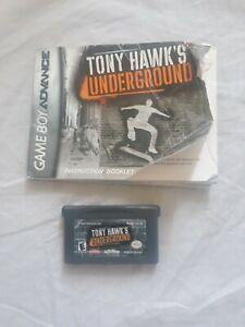 Tony Hawk's Underground GBA Nintendo Game Boy Advance Cartridge and Manual