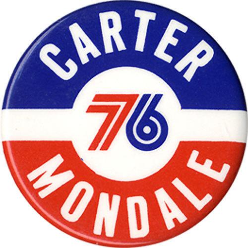 3788 1976 Carter Mondale Bicentennial Logo Campaign Button