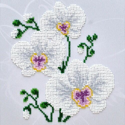 White Orchid VDV Bead Embroidery Kit