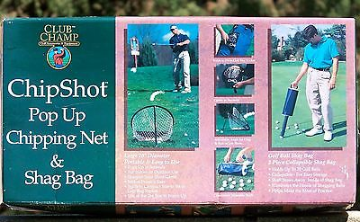 """New In Box Agreeable To Taste Sporting Goods Diligent Club Champ Chip Shot Pop Up 20"""" Chipping Net & Shag Bag"""