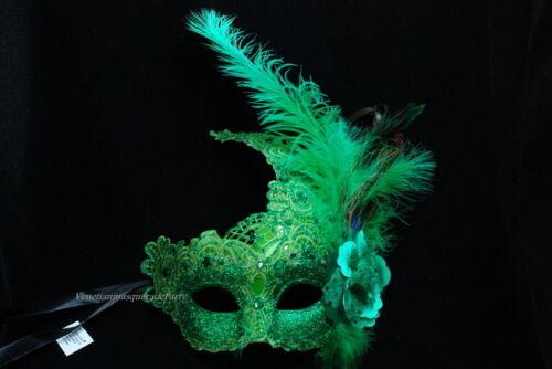 Masquerade Lace feather mask Mardi Gras Carnival Costume Birthday Party BULK