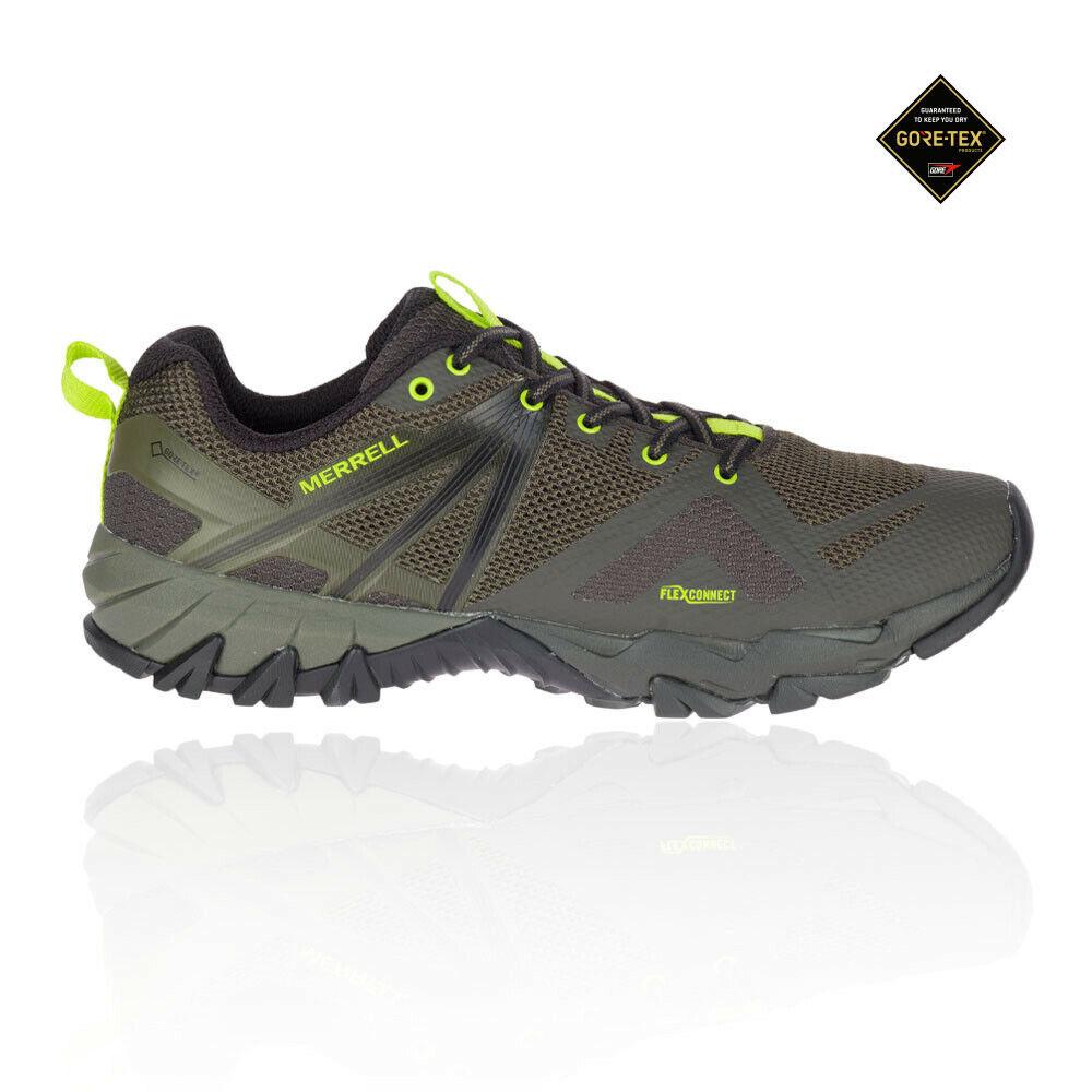 Merrell Herren MQM Flex GORE-TEX Wanderschuhe Trekking Outdoor Schuhe Grün Sport