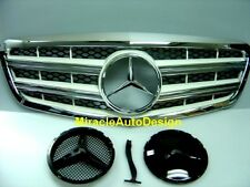 FRONT GRILLE (WHITE) SET FOR MERCEDES BENZ 2010-2013 W221 S-CLASS
