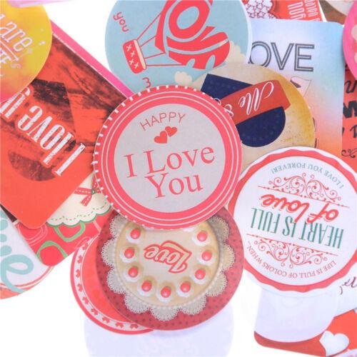 38Pcs Stickers Love Heart Diary Photo Album Decoration Baking Wedding Gift BJES
