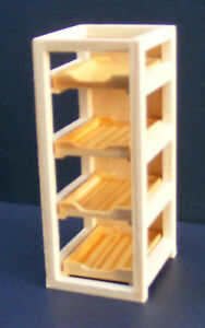 1:12 Scale Natural Finish Folding Wooden Small Step Ladders Tumdee Dolls House