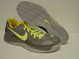 cdd740388cfc1 NEW Mens NIKE Zoom Hyperfuse Low 555034 001 Grey Yellow Sneakers ...