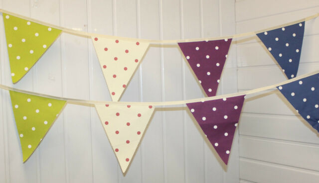** Spotted Bunting ** 5 and 10 Metres ** shabby chic / vintage / party / wedding