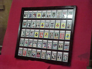 Display Case Holds 50 Psa Graded Cards Black Ebay