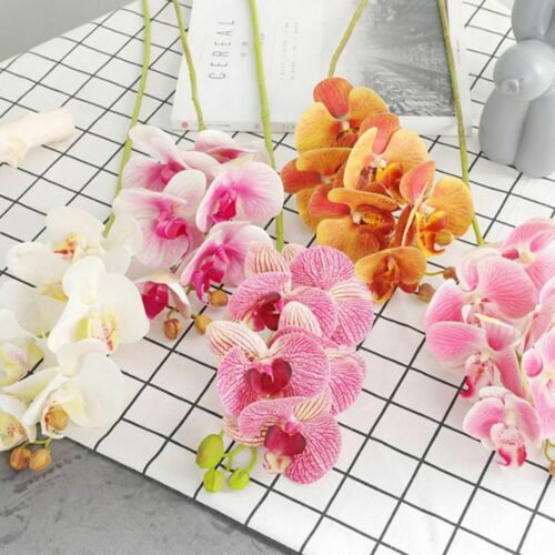 3D Printing Artificial Fake Silk Butterfly Orchid Flower Real Touch Home Decor