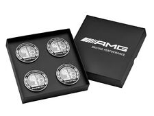 Genuine Mercedes Benz AMG Wheel Hub Centre Caps Set of 4 Gift Box