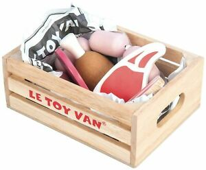 Le-Toy-Van-HONEYBAKE-PLAY-MARKET-CRATE-MEAT-Wooden-Toy-BN