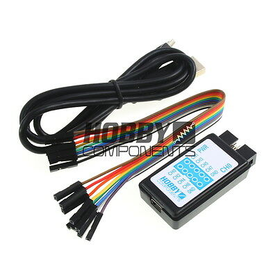 Hobby Components USB 24M 8CH 24MHz Logic Analyser & Test Hook Clips