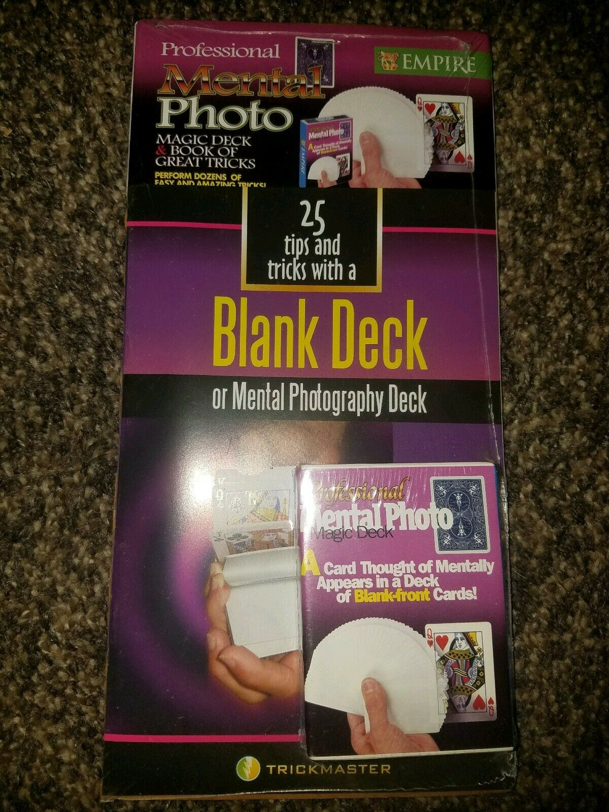 25 tips and tricks with a Blank Deck Mental Photography/Card Magic Book Combo 2