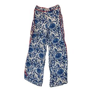 the room Women's Size S blue white floral palazzo pants