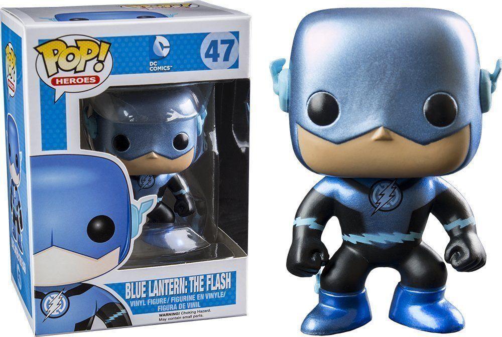Funko Pop Heroes  47 Azul Linterna el Flash (Metálico) fugitivo Juguetes Vinilo