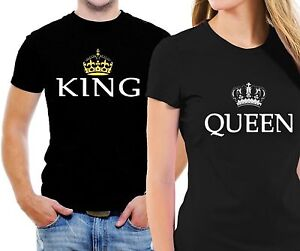 King And Queen Couple Matching Love T-Shirt His And Hers ...