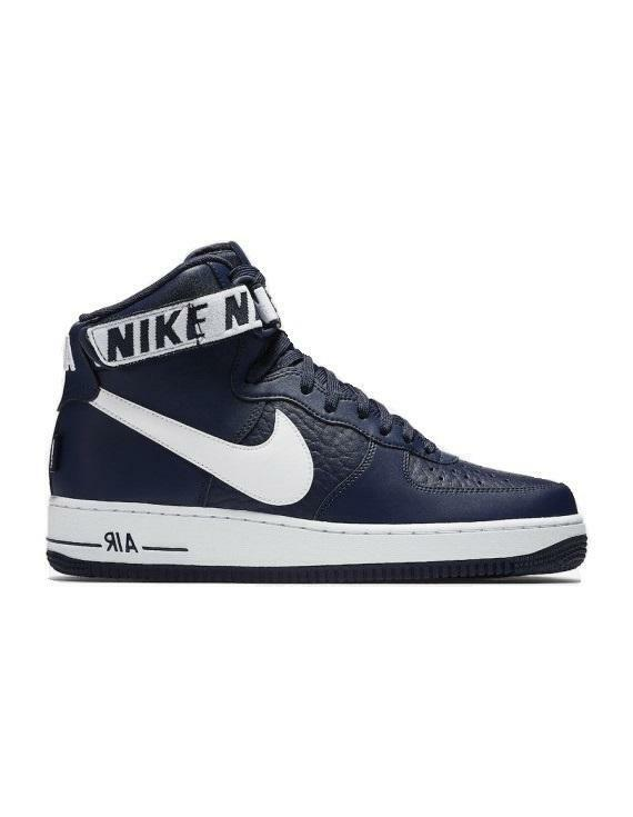 Mens NIKE AIR FORCE 1 HIGH 07 Navy Trainers 315121 414