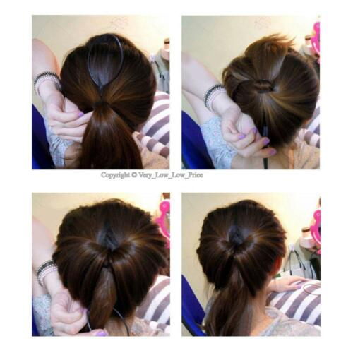 2 Pcs Topsy Tool Hair Braid Twist Braider Hook Bun Ponytail Tail Styling Tool UK