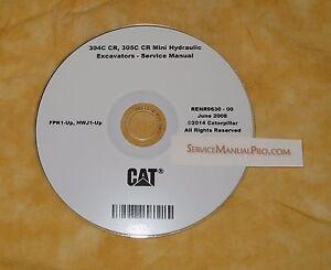 renr9630 caterpillar 304c 305c cr mini excavator oem service repair rh ebay com For Cat 304CR Hydraulic Thumb Cat Mini Excavator