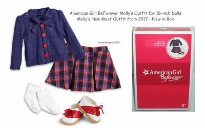 American Girl Doll MOLLY Beforever Meet Outfit NIB New Retired