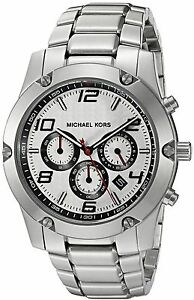ad7699d8253a Men s Michael Kors Caine Stainless Steel Link Chronograph Watch MK8472