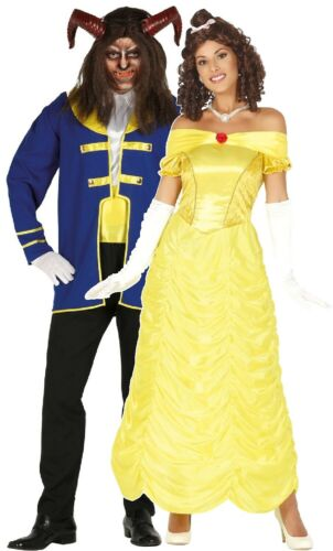 Couples Ladies AND Mens Beastly Fairy Tale Film Fancy Dress Costumes Outfits